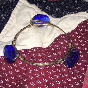 Jewelry - 🔵Blue stone gold wire bracelet